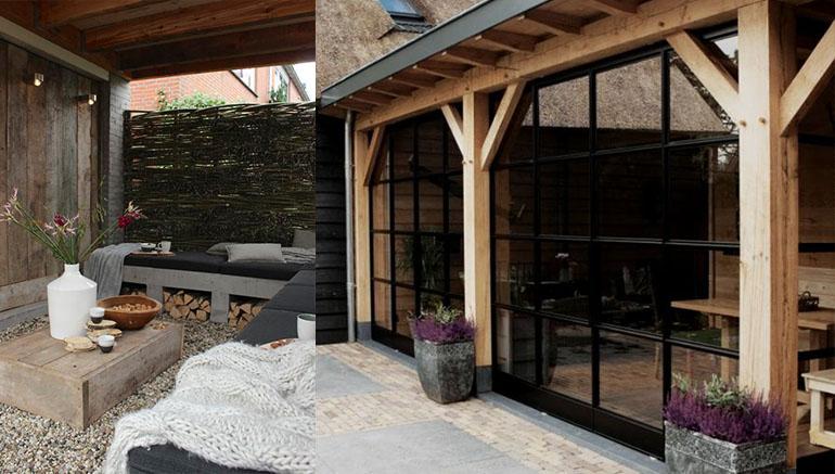 Veranda sfeer in de tuin huis bouwen for Foto op hout maken eigen huis en tuin