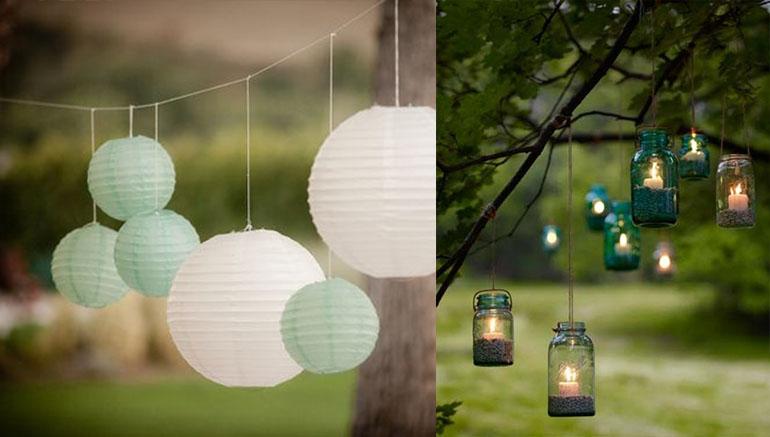 Lampionnen tuinfeest