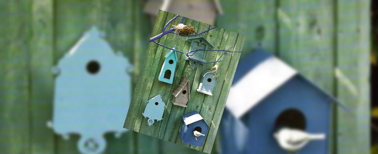 Lente-in-de-tuin-vogelhuisjes