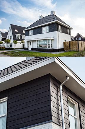 Houten gevels cape cod huis bouwen - Kleur gevel eigentijds huis ...