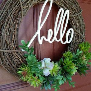 Blog Lente Krans, huis bouwen, huis inspiratie, interieur inspiratie, DIY, vetplanten