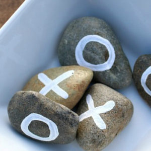 DIY, spel, outdoor game, tic tac toe, kruisje nulletje